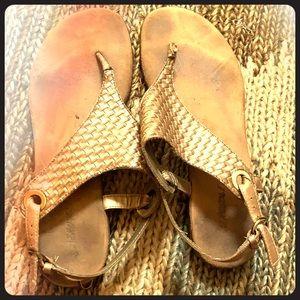 Aerosole Gold Sandals